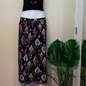 Dresses & Skirts - Tribal print maxi wrap skirt